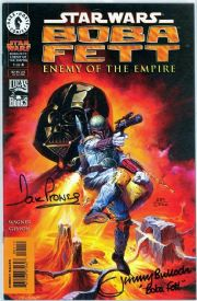 Star Wars Boba Fett Enemy of the Empire #1 Dynamic Forces Signed Dave Prowse & Jeremy Bulloch Movie